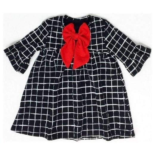 b277db5ce9 Sukienka świąteczna z kokardką szary Slow Village showroom.pl w Domodi