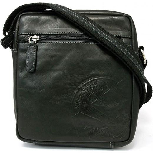 f3bf68a149a56 Męska torba skórzana listonoszka na ramię Always Wild 242-WS czarny Galmark