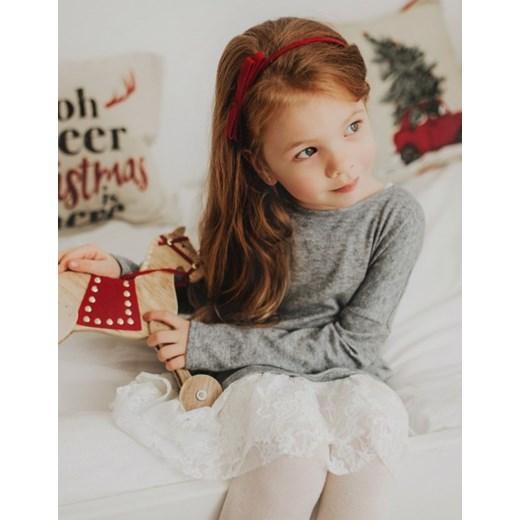 b03859421c Sukienka dzianinowa z koronką dziecięca bezowy Look Made With Love 116  promocyjna cena showroom.pl