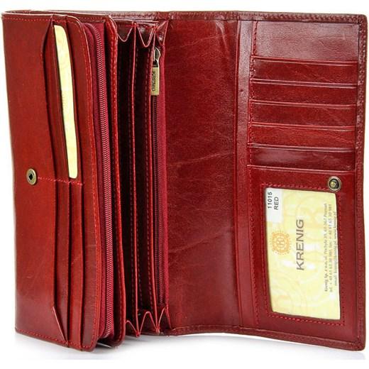 8a776cbacb8784 KRENIG El Dorado 11015 ekskluzywny czerwony skórzany portfel damski  skorzana-com damskie w Domodi