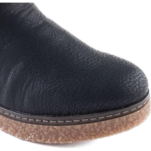 923dd285031940 PL; Y4080-00 Rieker czarne botki z kożuszkiem Rieker 38 okazja MILANDI.