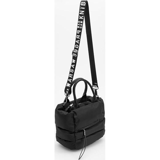 5d021f4e6e073 Reserved - Pikowana torba z ozdobnym paskiem - Czarny Reserved One Size