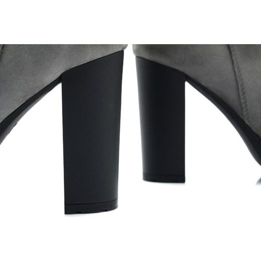 a2648534 KORDEL 1600 GRAFIT - Eleganckie botki z szarej skóry szary Tymoteo.pl sklep  obuwniczy w Domodi