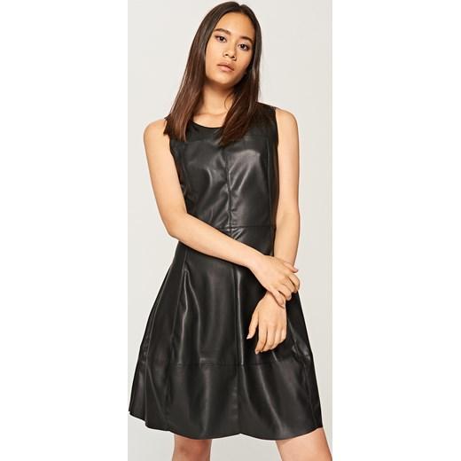d4a75a7872 Reserved - Sukienka z eko skóry - Czarny Reserved M