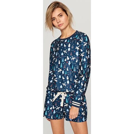 28ffaff8d40f92 Reserved - Świąteczna piżama Granatowy niebieski w Domodi