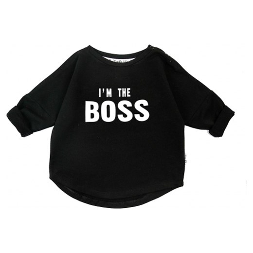 BLUZA 'I'M THE BOSS'  czarny 98/104 i love milk