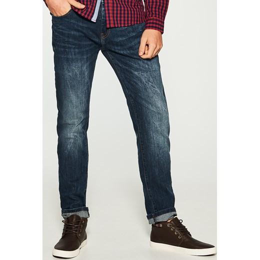 House jeansy regular fit niebieski czerwony House jeansy