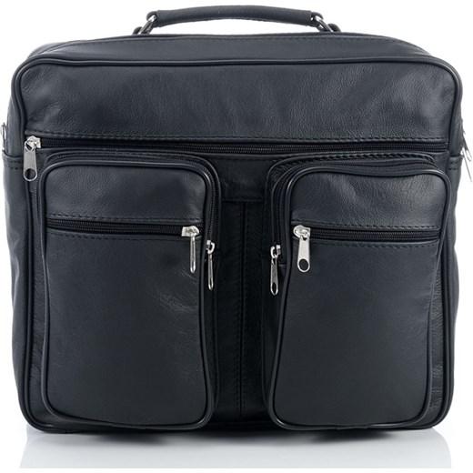 0942eee7bb332 Skórzana torba męska Abruzzo na ramię i do ręki AB-T9 supergalanteria-pl  czarny