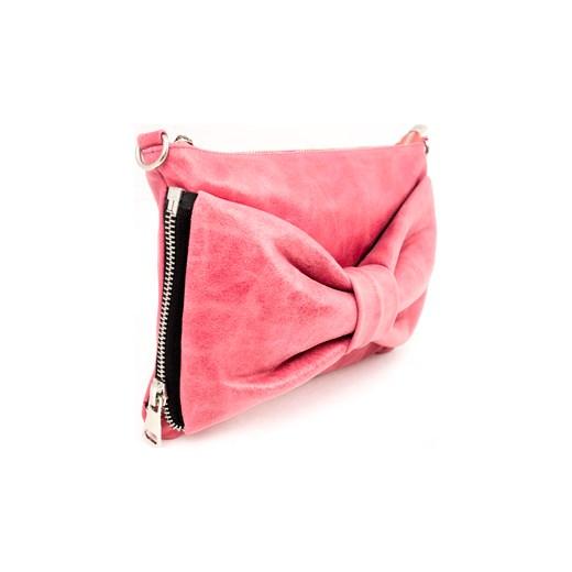 bc985362fd2d5 Różowa torebka z kokardą RINASCIMENTO skóra rozowy chicboutique.com ...