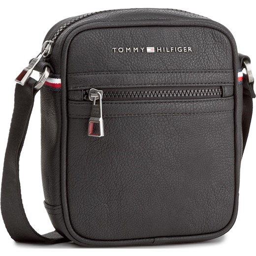 3c05847d9dcfc Saszetka TOMMY HILFIGER - Essential Mini Reporter AM0AM00794 Black 002  eobuwie-pl szary Skórzane torby