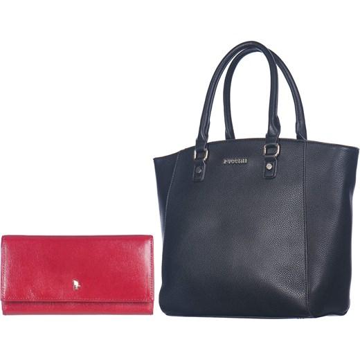4caa9cc0c0daf Prezent torebka PUCCINI czarna skórzany portfel rozowy Puccini Oficjalny  sklep Allegro