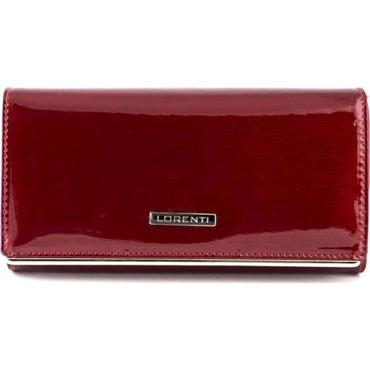 17b634813f396 Czerwony lakierowany damski portfel skórzany Lorenti 64003 SH R Lorenti  brazowy Galmark