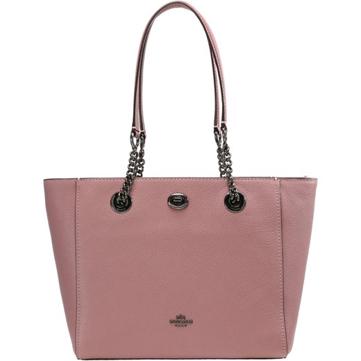 d80abcc002f95 Coach TURNLOCK CHAIN TOTE Torebka dusty rose brazowy Coach One Size Zalando  ...