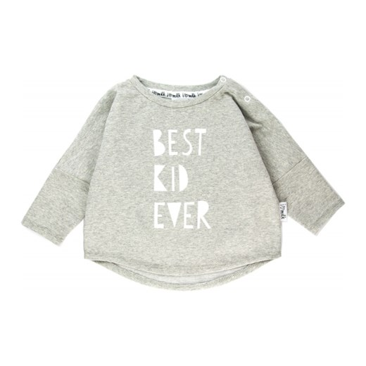 BLUZA 'BEST KID EVER'  zielony 86/92(12-24M) i love milk
