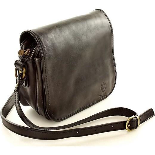a936cad600565 DESTINY - Włoska torebka na długim pasku MAZZINI czarna Mazzini szary One  Size okazyjna cena merg ...