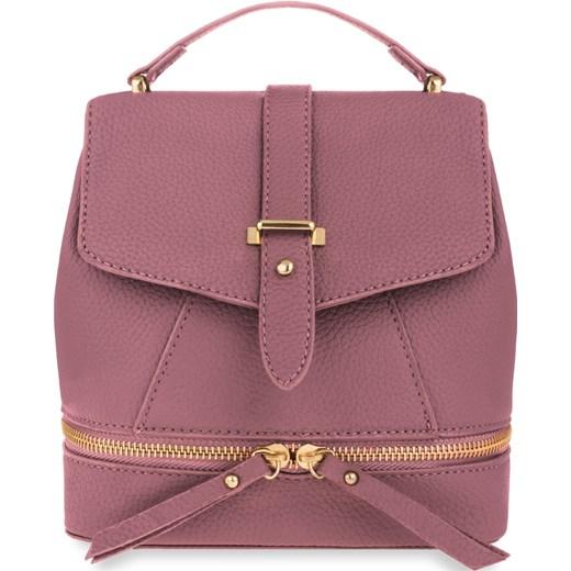 f10044faab20e Mały plecak damski plecaczek kuferek ozdobny suwak – różowy brazowy world-style.pl  ...