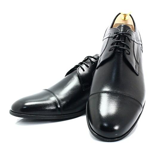 wylot LAVAGGIO 432 CZARNE Wiztowe buty ze skóry naturalnej