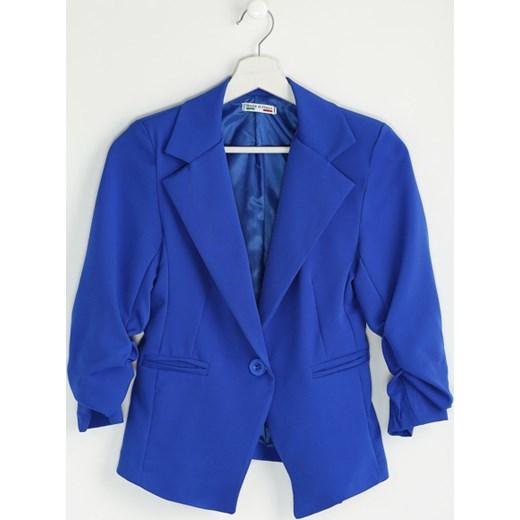 104432f6adf56 Kobaltowa Marynarka Cubit niebieski S okazyjna cena Born2be Odzież