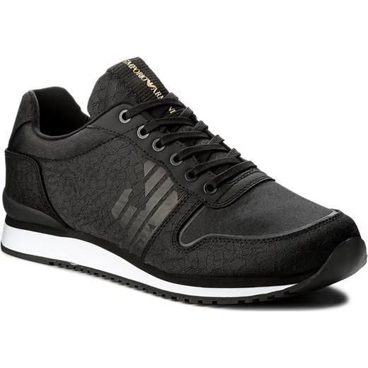 8ebc47cd0510 Sneakersy EMPORIO ARMANI - X4X223 XL201 A792 Black Black Black Emporio  Armani szary 43
