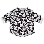 SWEATSHIRT 'PANDA'   50/56 (0-3M) i love milk