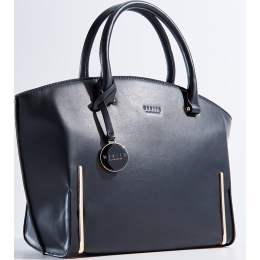 75da8af5a0b43 ... Mohito - Duża elegancka torba z odpinanym paskiem - Czarny szary Mohito  One Size