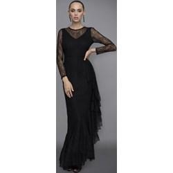49642b3604a8 Sukienka czarna Nissa maxi z okrągłym dekoltem