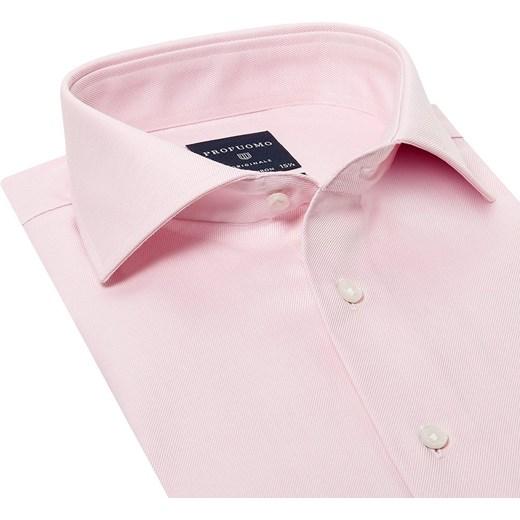 62c4328e83aeb7 Elegancka różowa koszula męska taliowana, SLIM FIT z mankietami na spinki  rozowy Profuomo EleganckiPan.