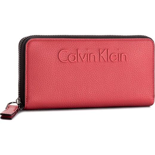 bffa974e41eb9 Duży Portfel Damski CALVIN KLEIN BLACK LABEL - Edge Large Ziparound  K60K603910 618 czerwony Calvin Klein