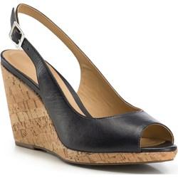 5eaf75d1 Tamaris sandały damskie na wysokim obcasie w abstrakcyjnym wzorze na ...