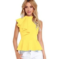 2a991bd461 Żółte bluzki damskie elegrina