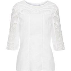 a061b04e88dd12 Białe bluzki damskie bonprix, lato 2019 w Domodi