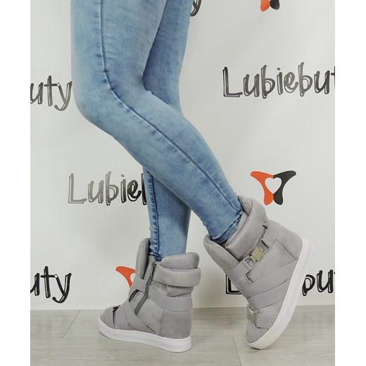 1bedebaa Sneakersy Na Koturnie szary 41 Lubiebuty; Sneakersy Na Koturnie niebieski  37 Lubiebuty ...