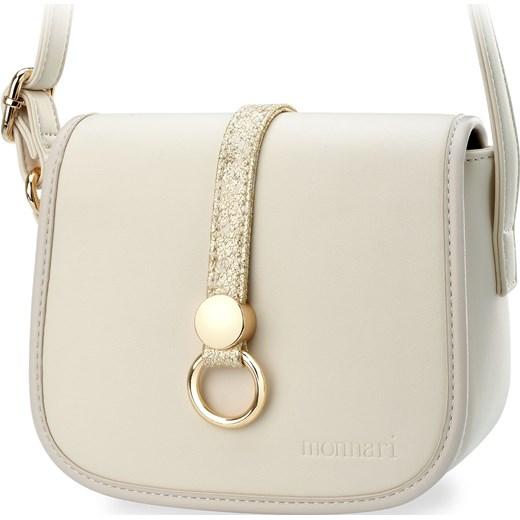 3378ef628841c ... Elegancka listonoszka monnari mała torebka damska z klapką przewieszka  – kremowy Monnari bezowy world-style ...