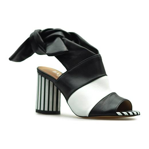 Sandały Badura 7787-69 Czarne lico bialy Arturo-obuwie Buty Damskie TJ wielokolorowy Sandały damskie NHBW