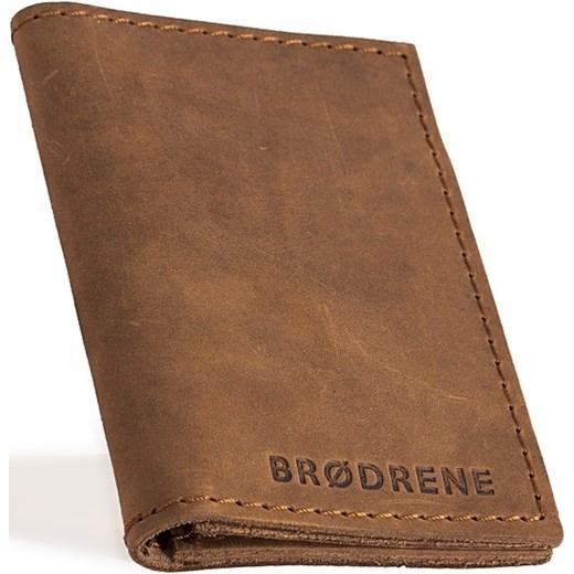 46ef4dab74b36 Skórzany cienki portfel slim wallet BRODRENE SW03 jasnobrązowy Brødrene  Skorzana.com ...
