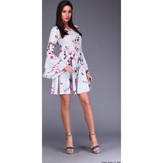 41d0b6f3b7 ... sukienka miracle    szyfonowa + delikatne kwiaty + kratka fioletowy  Miracle S LUXURYONLINE ...