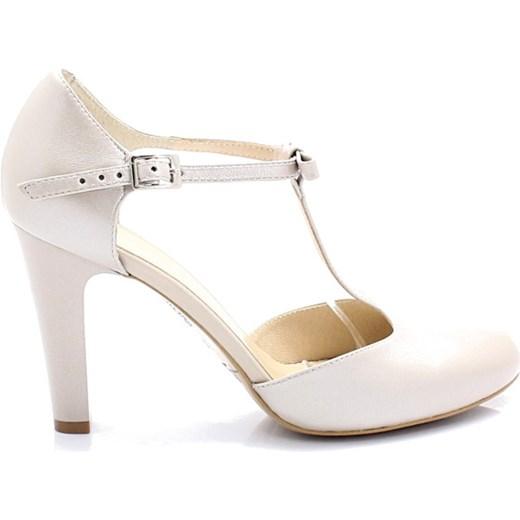 dda02ddf KOTYL 5871 PERŁA LICO - Skórzane buty ślubne doskonałe do tańca Kotyl 35  wyprzedaż Tymoteo.