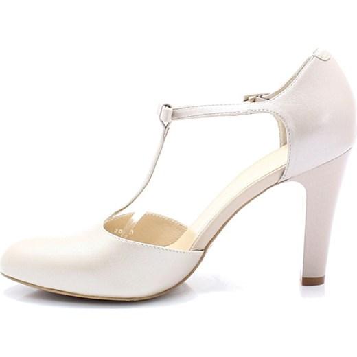 ac88a791 KOTYL 5871 PERŁA LICO - Skórzane buty ślubne doskonałe do tańca Kotyl 40  okazyjna cena Tymoteo ...