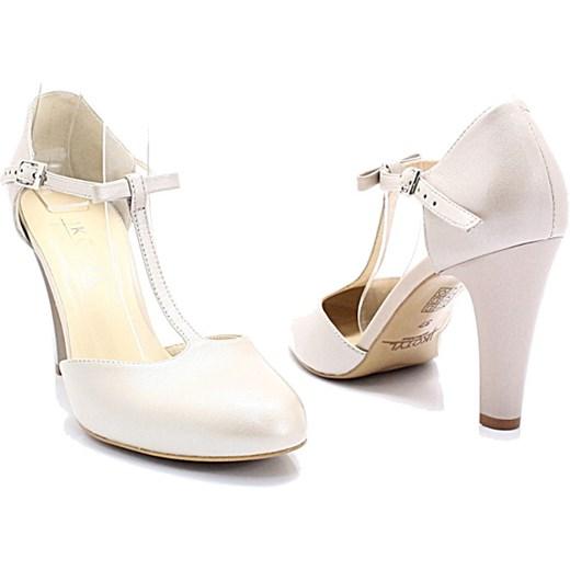 479a2bf3 KOTYL 5871 PERŁA LICO - Skórzane buty ślubne doskonałe do tańca Kotyl 38  promocja Tymoteo.