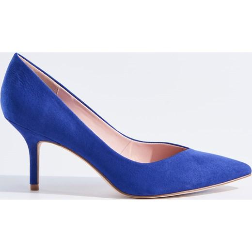 31990a21 Mohito - Granatowe szpilki w szpic Niebieski