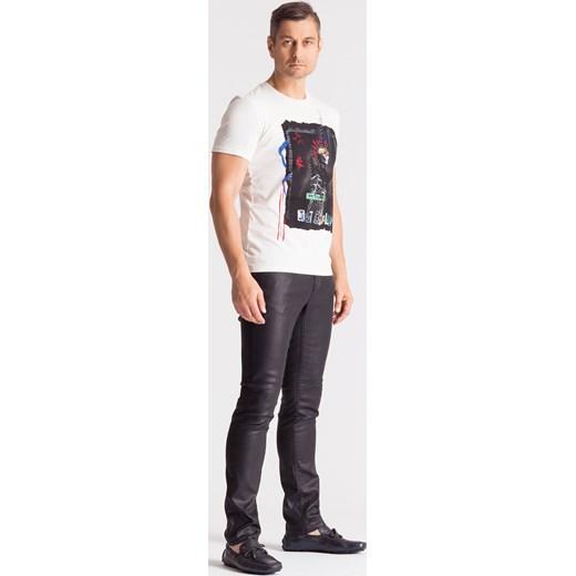 b040eb2807fba ... Czarne spodnie męskie z woskowanej bawełny Just Cavalli 31 Velpa.pl ...