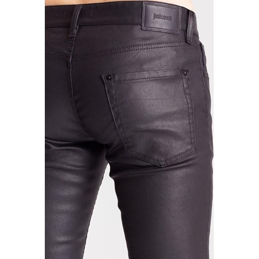 23389fd28f20a ... Czarne spodnie męskie z woskowanej bawełny Just Cavalli 34 Velpa.pl ...