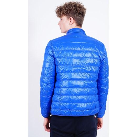 8455145043a69 Niebieska pikowana kurtka męska Ea7 Emporio Armani Velpa.pl w Domodi