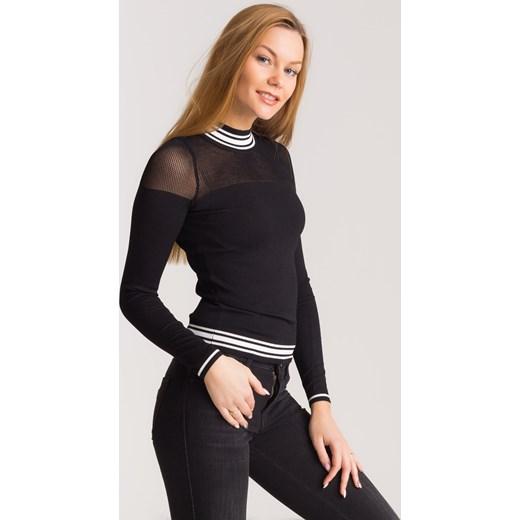 68b9bb855b Czarny sweter z siatką Guess Velpa.pl w Domodi