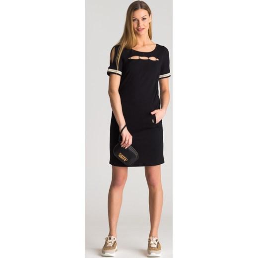 00ba35d0 Czarna sukienka z wycięciami Liu Jo Sport Velpa.pl