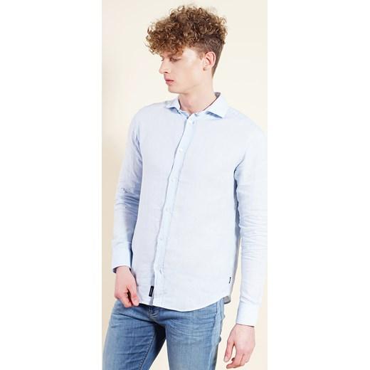 7f83cec6c1b4aa ... Niebieska koszula męska bialy Armani Jeans M Velpa.pl ...