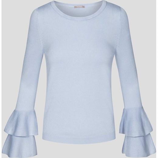 010569b1b83663 Sweter z falbaną na rękawach ORSAY niebieski orsay.com w Domodi