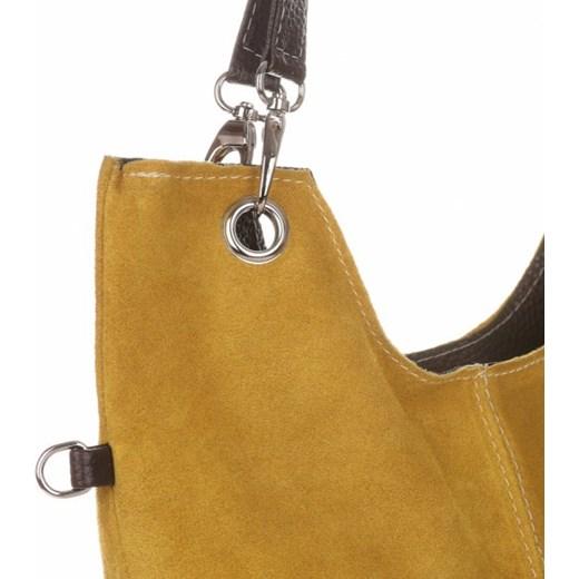 d81baadb913ff ... Uniwersalne Torebki Skórzane z Zamszu firmy Genuine Leather Musztardowe  (kolory) Genuine Leather PaniTorbalska ...