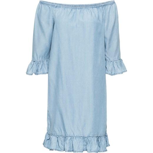 bc89296fe31f Sukienka z falbanami tencelu BODYFLIRT bonprix - Domodi.pl