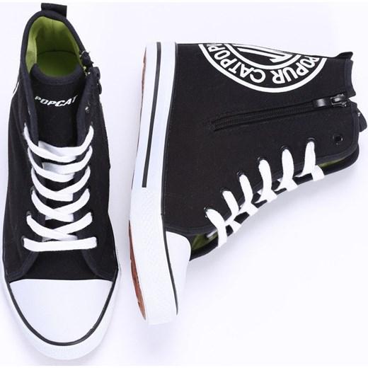 6d75b62c Czarne Sneakresy Black Sneakers Ruby born2be-pl na obcasie w Domodi